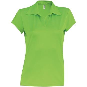 textil Dame Polo-t-shirts m. korte ærmer Kariban Proact PA483 Lime