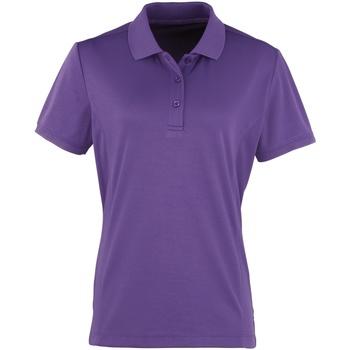 textil Dame Polo-t-shirts m. korte ærmer Premier PR616 Purple