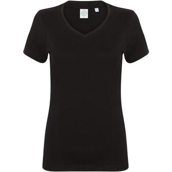 textil Dame T-shirts m. korte ærmer Skinni Fit SK122 Black