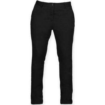 textil Dame Chinos / Gulerodsbukser Front Row FR622 Black