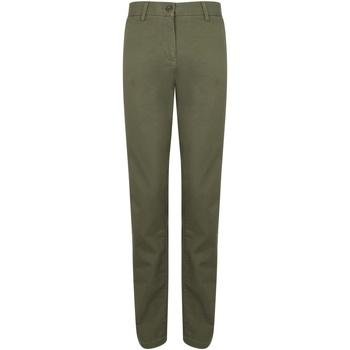 textil Dame Chinos / Gulerodsbukser Front Row FR622 Khaki