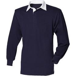 textil Børn Polo-t-shirts m. lange ærmer Front Row FR109 Navy