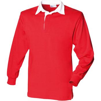 textil Børn Polo-t-shirts m. lange ærmer Front Row FR109 Red