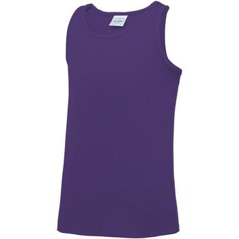 textil Børn Toppe / T-shirts uden ærmer Awdis JC07J Purple