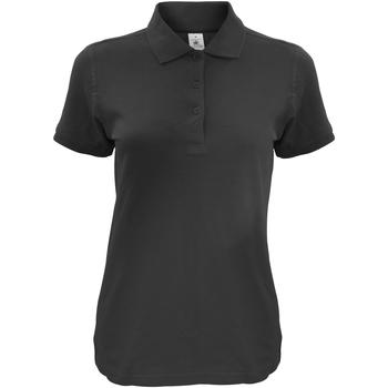 textil Dame Polo-t-shirts m. korte ærmer B And C Safran Black