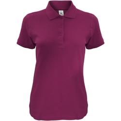 textil Dame Polo-t-shirts m. korte ærmer B And C Safran Burgundy