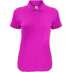 textil Dame Polo-t-shirts m. korte ærmer B And C Safran Fuchsia