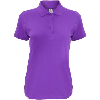 textil Dame Polo-t-shirts m. korte ærmer B And C Safran Purple