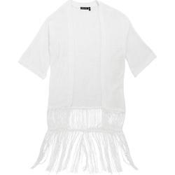 textil Dame Veste / Cardigans Brave Soul Kimono White