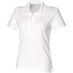 textil Dame Polo-t-shirts m. korte ærmer Front Row FR78M White