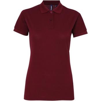 textil Dame Polo-t-shirts m. korte ærmer Asquith & Fox AQ025 Burgundy