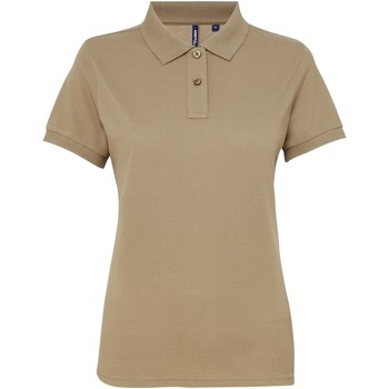 textil Dame Polo-t-shirts m. korte ærmer Asquith & Fox AQ025 Khaki