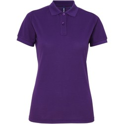 textil Dame Polo-t-shirts m. korte ærmer Asquith & Fox AQ025 Purple