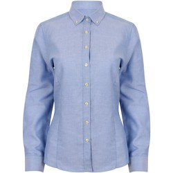 textil Dame Skjorter / Skjortebluser Henbury HB513 Blue