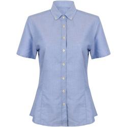 textil Dame Skjorter / Skjortebluser Henbury HB518 Blue