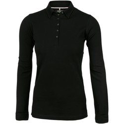 textil Dame Polo-t-shirts m. lange ærmer Nimbus Carlington Black