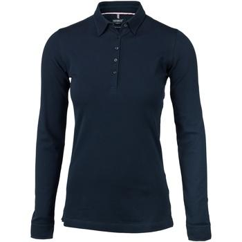 textil Dame Polo-t-shirts m. lange ærmer Nimbus Carlington Navy
