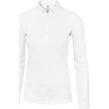 textil Dame Polo-t-shirts m. lange ærmer Nimbus Carlington White