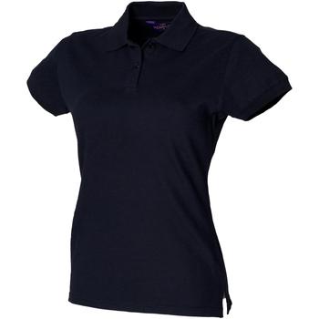 textil Dame Polo-t-shirts m. korte ærmer Henbury HB306 Navy