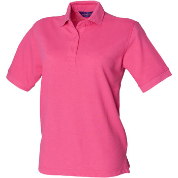 textil Dame Polo-t-shirts m. korte ærmer Henbury HB401 Fuchsia