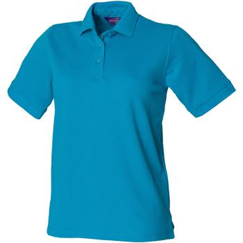 textil Dame Polo-t-shirts m. korte ærmer Henbury HB401 Turquoise