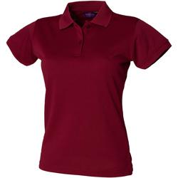 textil Dame Polo-t-shirts m. korte ærmer Henbury Coolplus Burgundy
