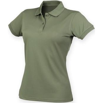 textil Dame Polo-t-shirts m. korte ærmer Henbury Coolplus Olive