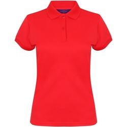 textil Dame Polo-t-shirts m. korte ærmer Henbury Coolplus Red