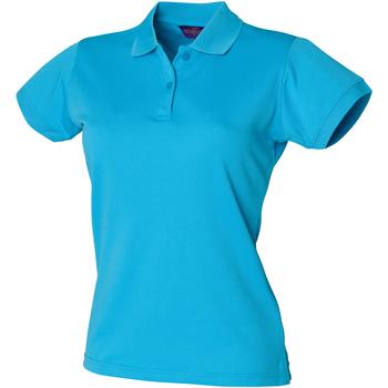 textil Dame Polo-t-shirts m. korte ærmer Henbury Coolplus Turquoise