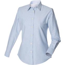 textil Herre Skjorter m. lange ærmer Henbury Classic Oxford Blue