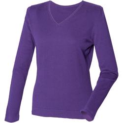 textil Dame Pullovere Henbury HB721 Purple