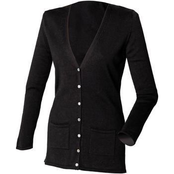 textil Dame Veste / Cardigans Henbury Fine Knit Black