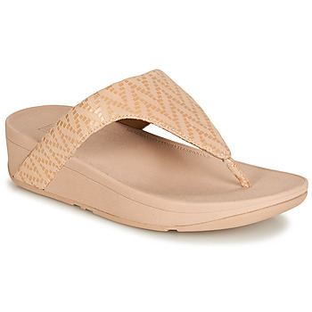 Sko Dame Flip flops FitFlop LOTTIE CHEVRON SUEDE Pink