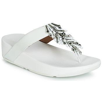 Sko Dame Flip flops FitFlop JIVE TREASURE Hvid