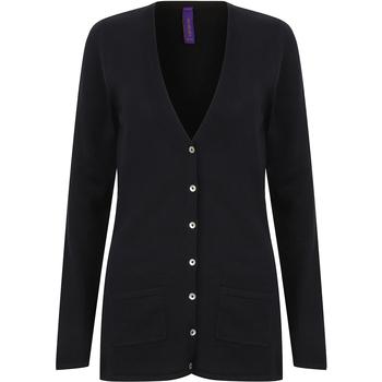 textil Dame Veste / Cardigans Henbury Fine Knit Navy