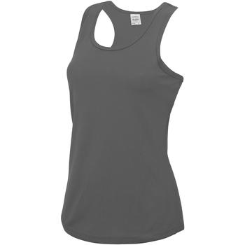 textil Dame Toppe / T-shirts uden ærmer Awdis JC015 Charcoal