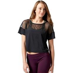 textil Dame T-shirts m. korte ærmer Reebok Sport Cardio Fashion Top Sort