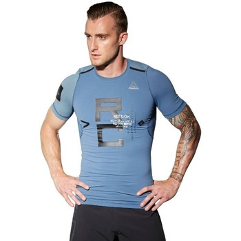 textil Herre T-shirts m. korte ærmer Reebok Sport Combat Rash Guard Blå