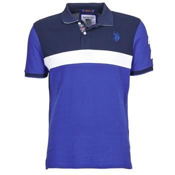 textil Herre Polo-t-shirts m. korte ærmer U.S Polo Assn. REMY Marineblå / Hvid