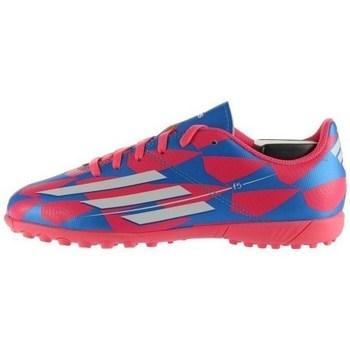 Sko Børn Fodboldstøvler adidas Originals F5 TF J Hvid, Blå, Pink