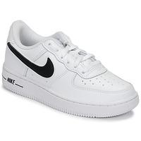 Sko Børn Lave sneakers Nike AIR FORCE 1-3 PS Hvid / Sort